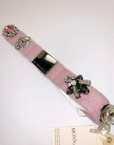 Monnalisa Pink Diamante Belt