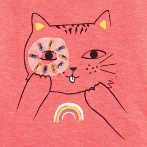 Billieblush Girls Neon Pink Cat T-Shirt