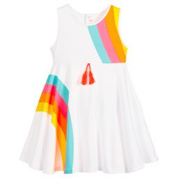 Billieblush Girls White Cotton Dress