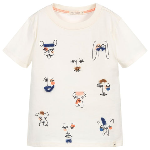 Billybandit Boys Ivory Dog Graphic T-Shirt
