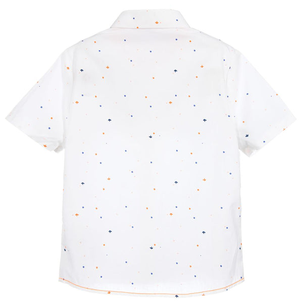 Billybandit Boys White Cotton Shirt