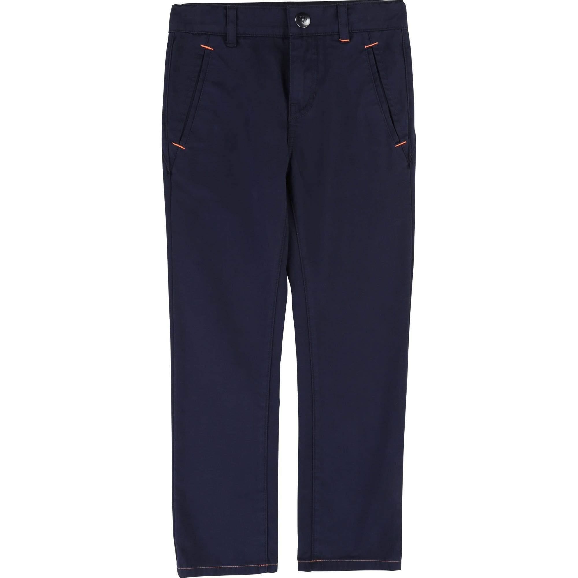 Billybandit Boys Cotton Navy Blue Chino Trousers