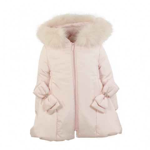 Bimbalo Fur Trim Hood Padded Coat
