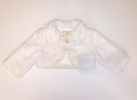 Bimbalo Girls White Fur Bolero