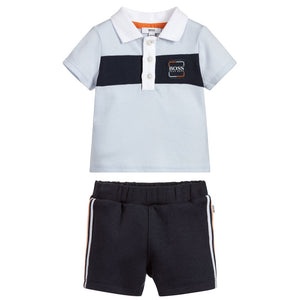 BOSS Boys Polo & Shorts Set