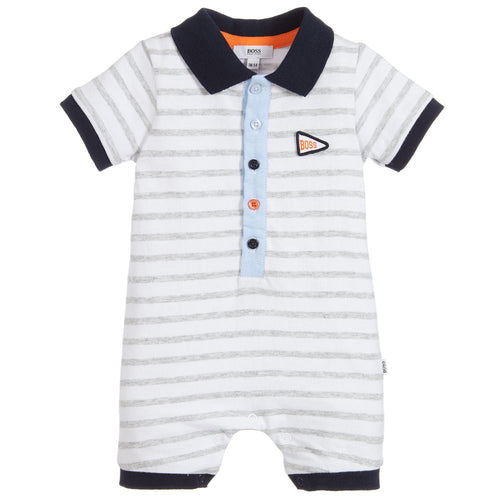 BOSS Baby Boys Grey Cotton Shortie