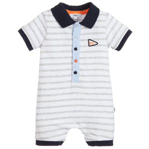 HUGO BOSS Baby Boys Grey Cotton Shortie