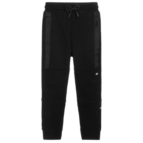 BOSS Boys Black Jersey Joggers