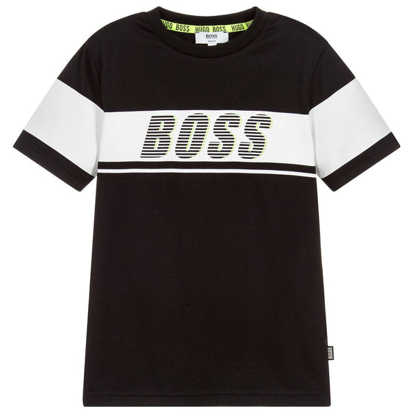 BOSS Boys Black Logo T-Shirt