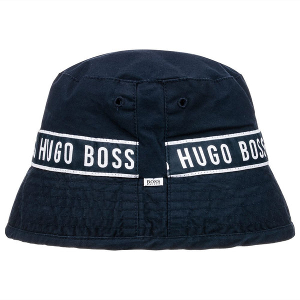 BOSS Boys Blue Cotton Sun Hat