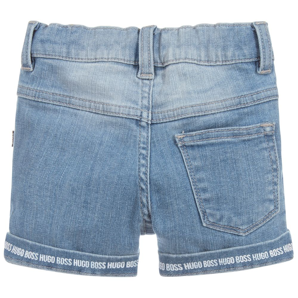 c8860ff30 BOSS Baby Boys Logo Denim Shorts – Baby Bella Boutique