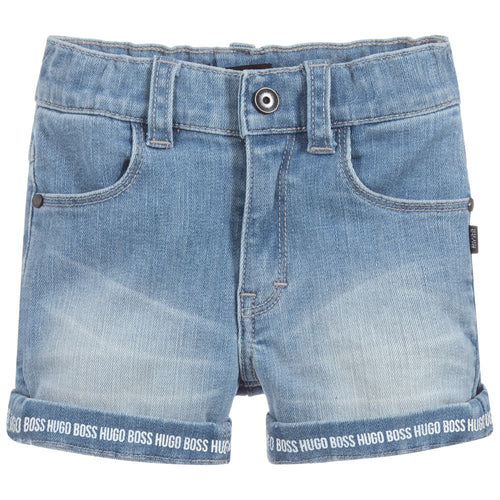 BOSS Baby Boys Logo Denim Shorts