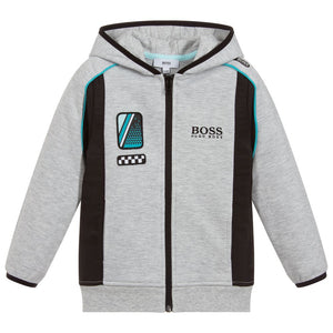BOSS Boys Cotton Zip-Up Racing Top