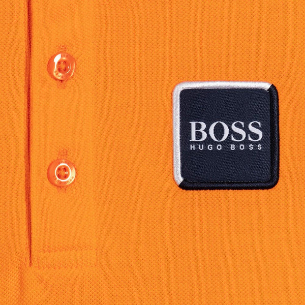HUGO BOSS Boys Orange Cotton Polo Shirt