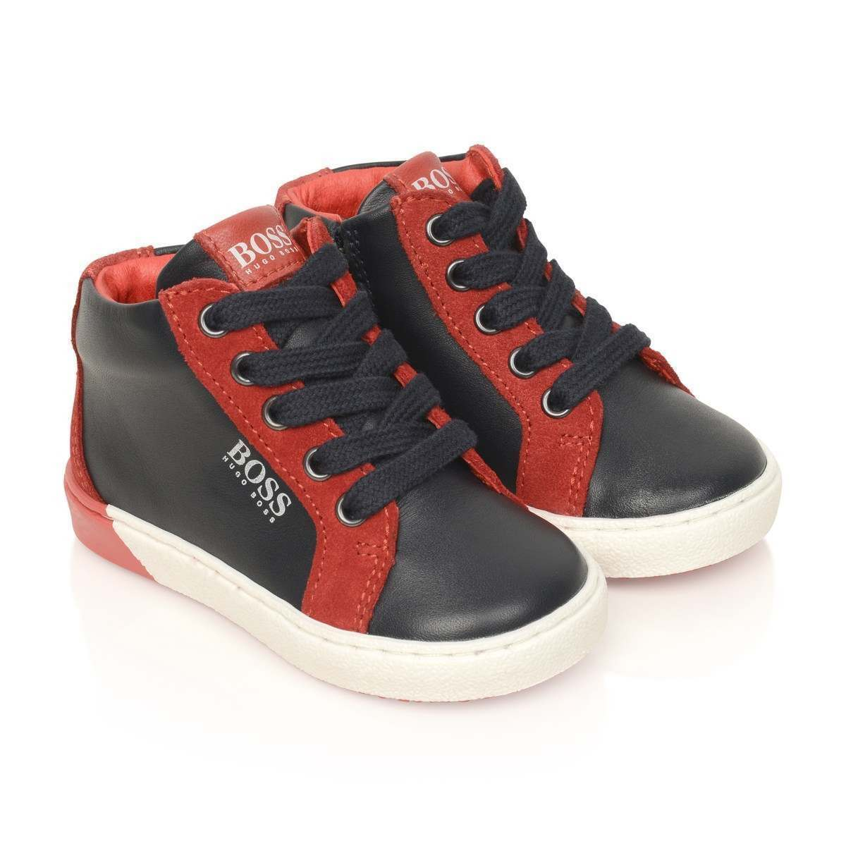 Boss Boy Lace up High Top Sneakers