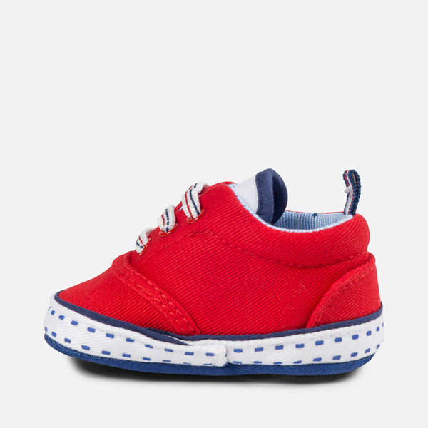 Mayoral Baby Boy Red Twill Shoes