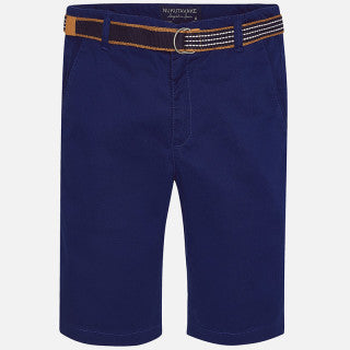Mayoral Nukutavake Boy Navy Shorts with Belt