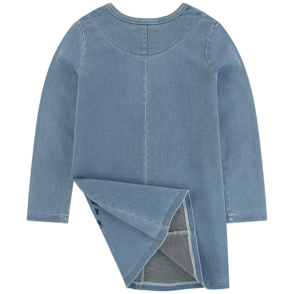 Chloé Girls Denim Jersey Dress