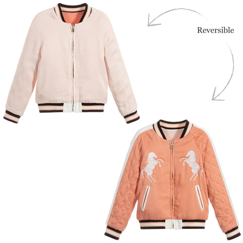 Chloé Reversible Pink Satin Jacket