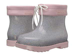 Mini Melissa Rain Boot (Toddler/Little Kid) Glitter