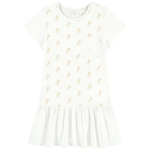 Chloé Girls Ivory Cotton Jersey Dress