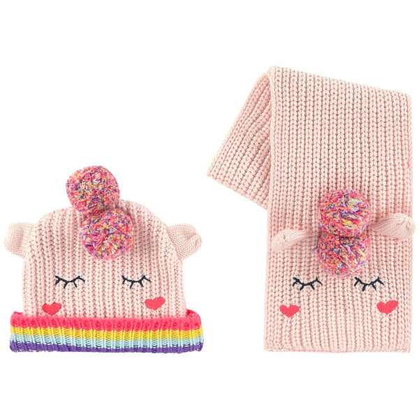 Billieblush Pink Knitted Hat & Scarf Set