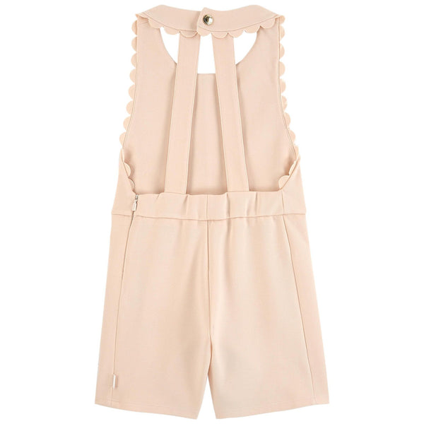 Chloé Girls Peach Milano Jersey Playsuit