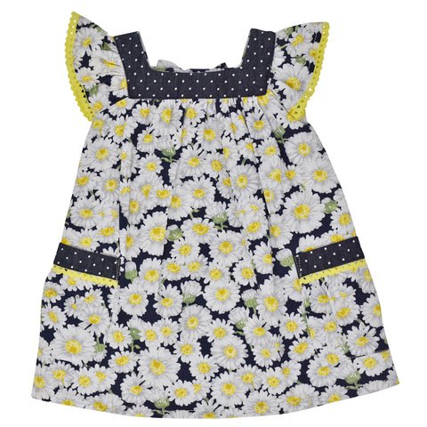 Dr. Kid Girls Daisy Print Cotton Dress