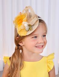 Abel & Lula Yellow Organza Headband