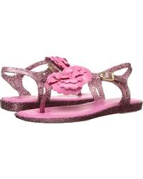Mel Solar II Flower Sandals Hot Pink/Glitter