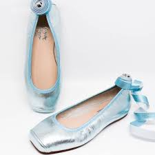 Carmen Taberner Ballerina Shoes Metallic Green