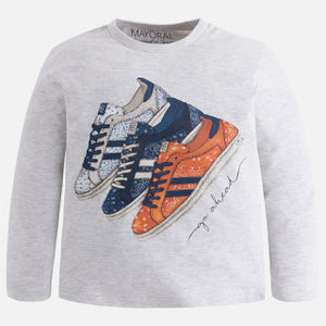 Mayoral Boy Long Sleeve Shoes T-Shirt