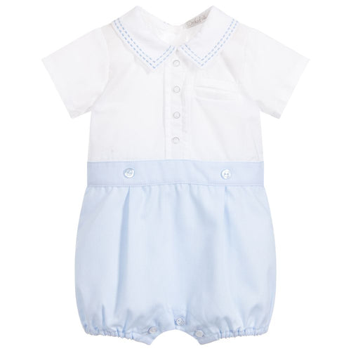 Dr. Kid Baby Boys Blue Cotton Shortie
