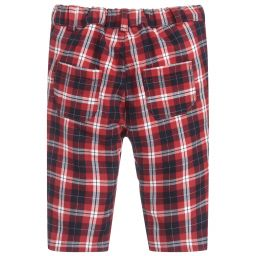 Dr. Kid Boys Cotton Tartan Trouser with Pockets