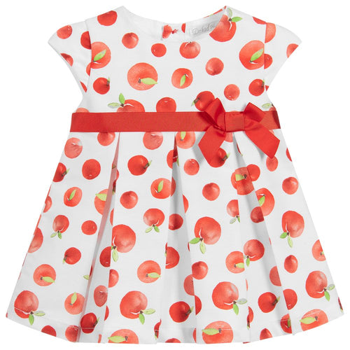 Dr. Kid Baby Girls Apple Cotton Dress