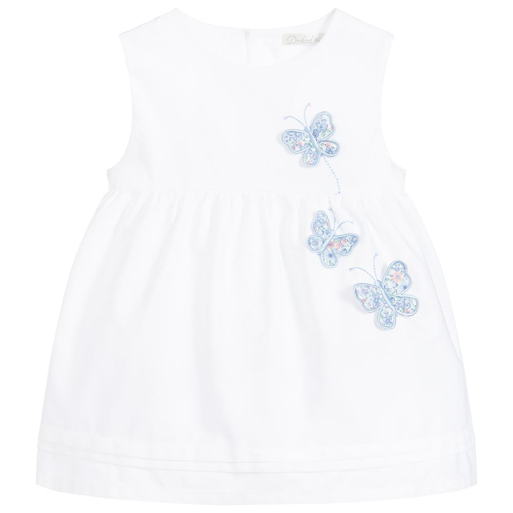 Dr. Kid Baby Girls Cotton Butterfly Dress Set