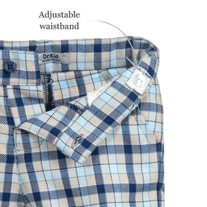 Dr. Kid Boys Woven Check Shorts with 3 Pockets