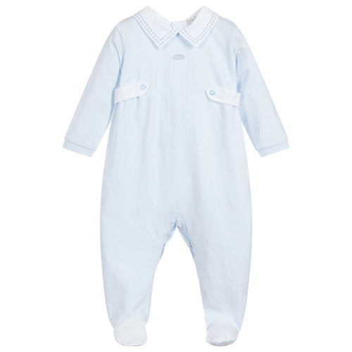 Dr. Kid Boys Blue Cotton Babygrow