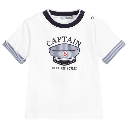 Dr. Kid Boys Cotton Captain T-Shirt