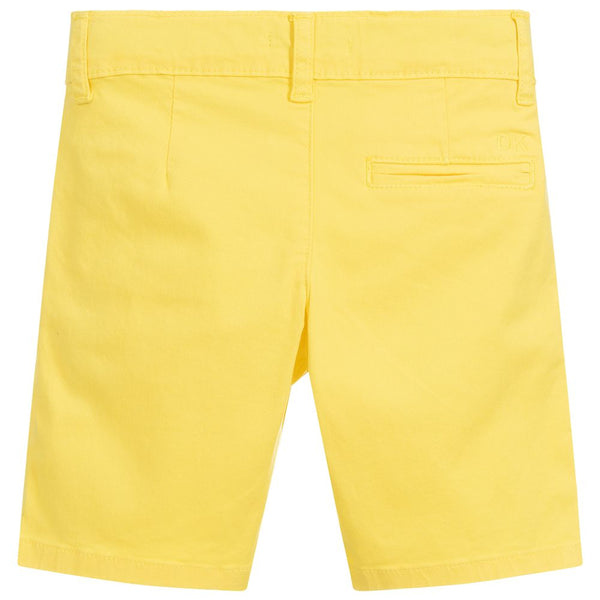 Dr. Kid Boys Yellow Cotton Shorts