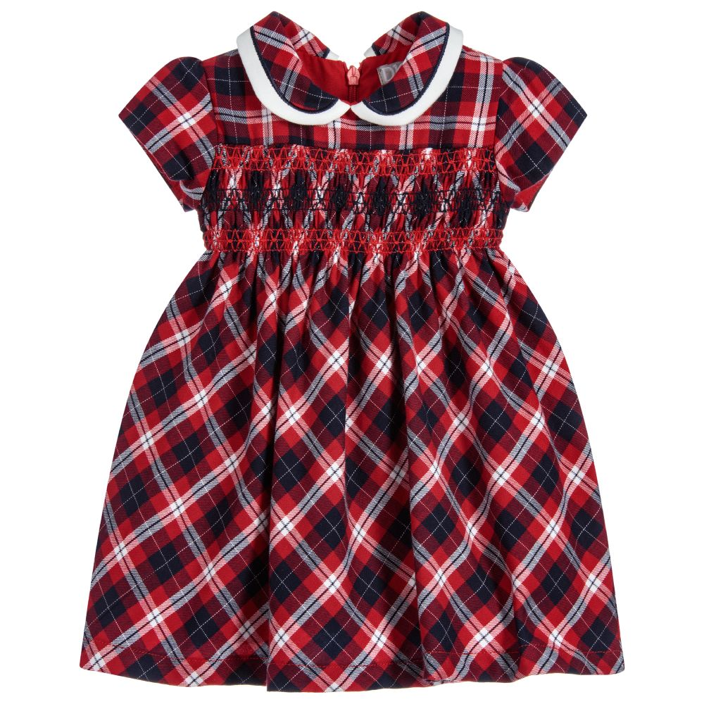 Dr. Kid Peter Pan Collar Tartan Cotton Dress
