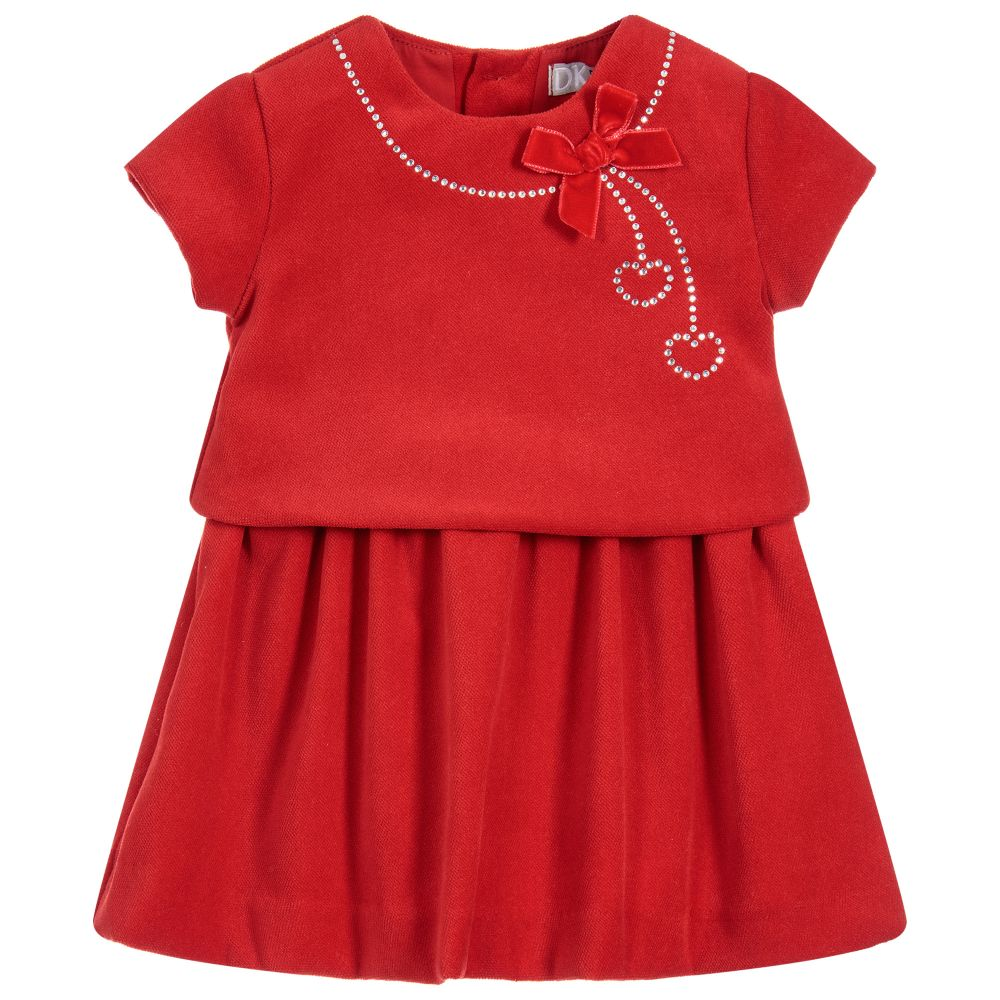 Dr. Kid Diamanté Necklace Dress With A Velvet Bow