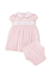 Magnolia Baby Cora and Cole's 2-Piece Pink Flare Dress & Bloomers Set