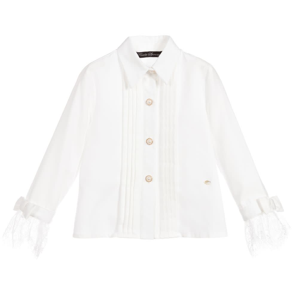 Piccola Speranza Ivory Cotton Blouse