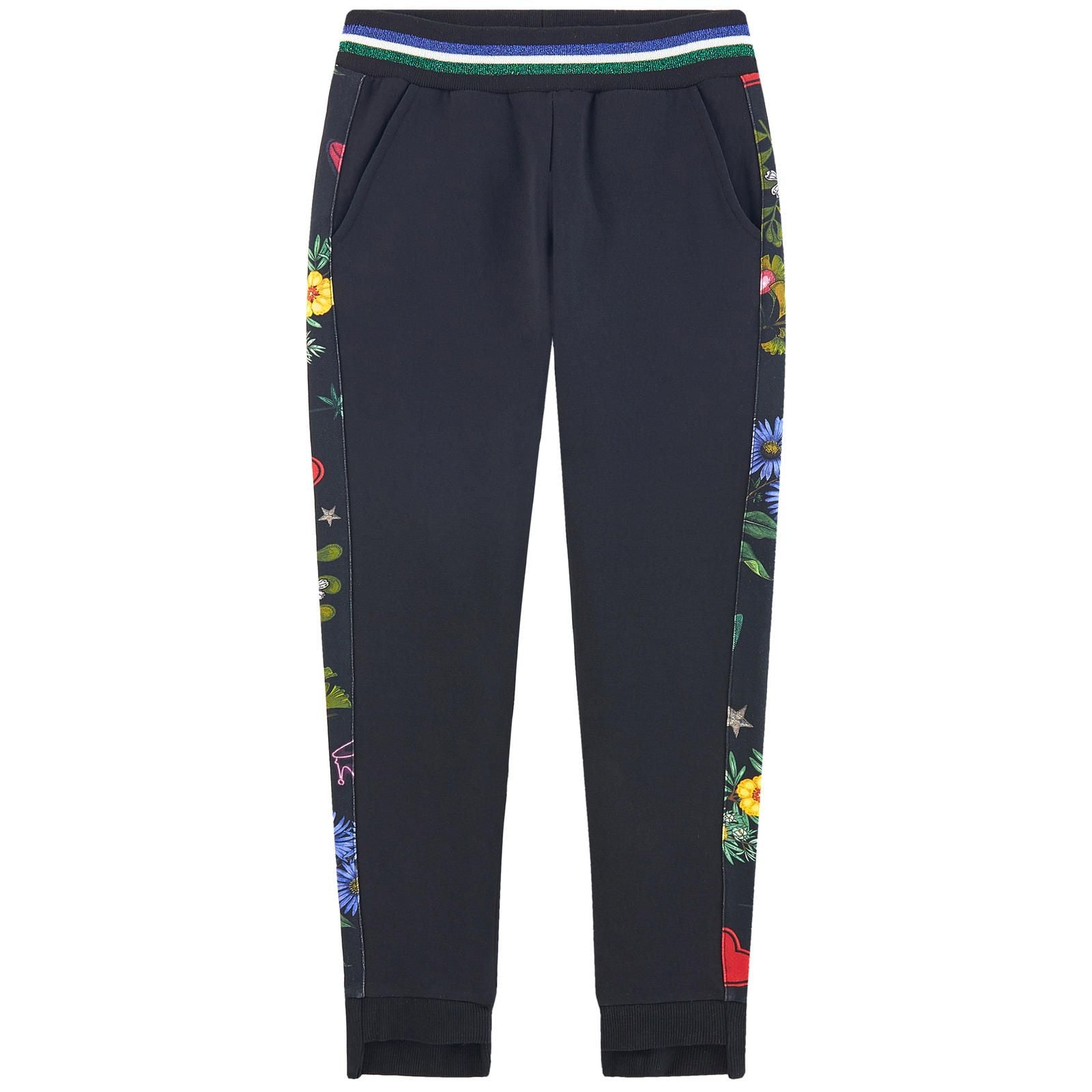 Monnalisa Fancy Tracksuit Pants Black