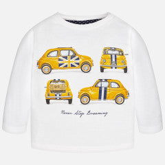Mayoral Baby Boy Long Sleeve T-shirt with Print - Car