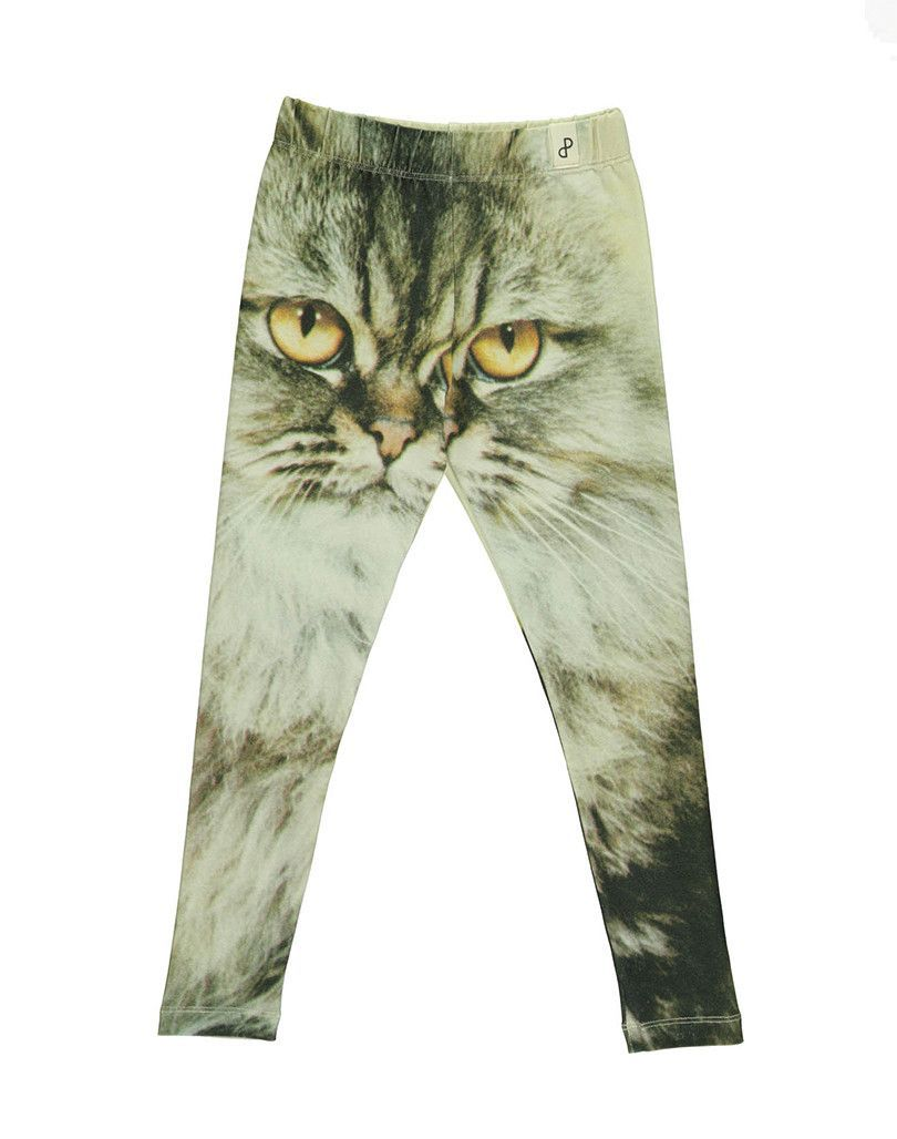 Popupshop Cat Baggy Leggings Cat Print