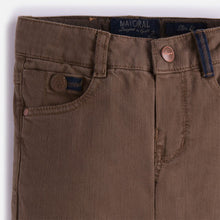 Mayoral Boys Long Twill Pants - Brown