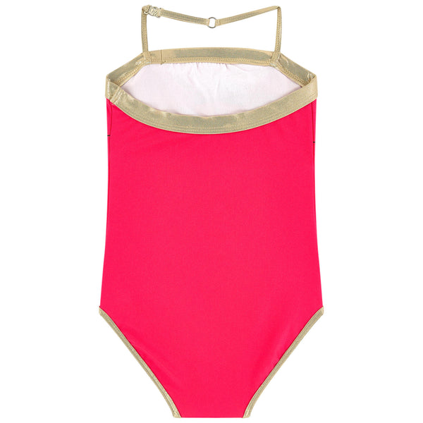 Little Marc Jacob Miss Marc Neon One-Piece Swimsuit