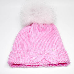 Bimbalo Hat with Real Fur Pink